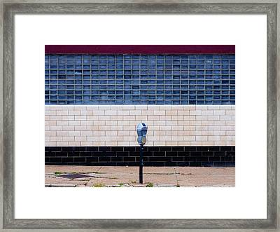 Contemporary Minimal Photography Print. Parking Meter. Framed Print by Dylan Murphy