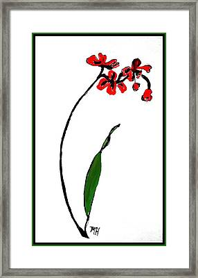 Framed Print featuring the painting Contemporary Orchids by Marsha Heiken