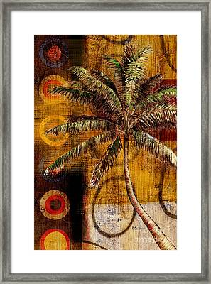Contemporary Palm II - Vertical Framed Print by Paul Brent