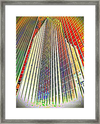 Contemporary Study  Pittsburgh Skyline #1 Of 3. Framed Print