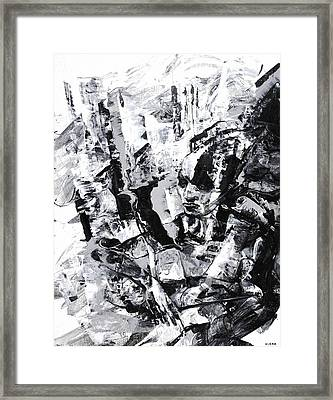 Contempt For The Violence Framed Print by Jeff Klena