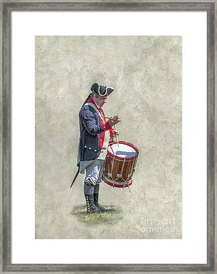 Framed Print featuring the digital art Continental Army Drummer American Revolution by Randy Steele