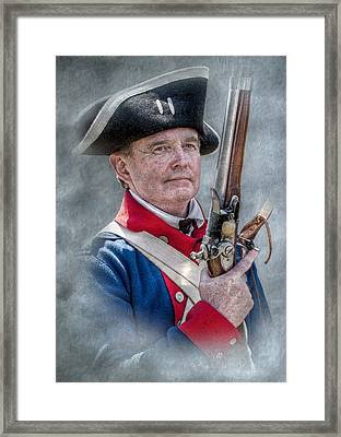 Continental Soldier Portrait Framed Print by Randy Steele