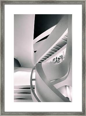 Contour Of Curves Framed Print by Jessica Jenney