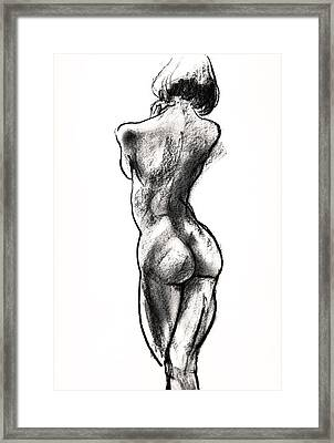 Contra Posta Female Nude Framed Print by Roz McQuillan