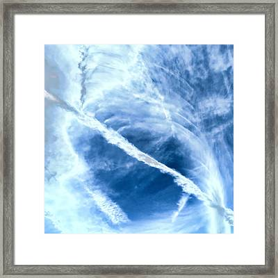 Contrail Concentricities Framed Print