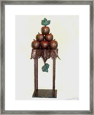 Framed Print featuring the sculpture Contrap Posto by Al Goldfarb