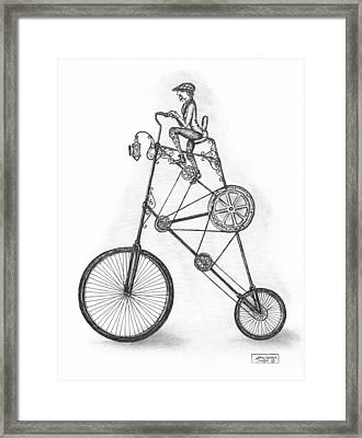 Contraption Framed Print by Adam Zebediah Joseph