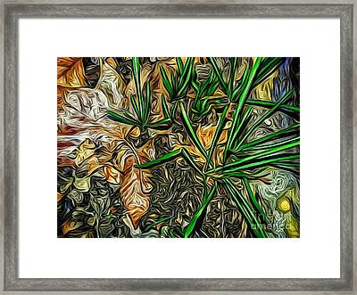 Contrast In Nature,oil Framed Print by Olga Lyakh