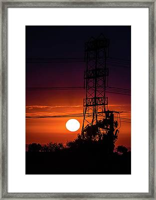 Contrast Of Two Powers Framed Print by April Reppucci