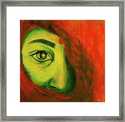 Contrast Framed Print by Rashmi Rao