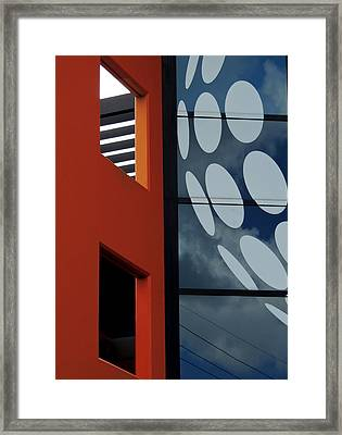 Contrasts In Abstract Framed Print