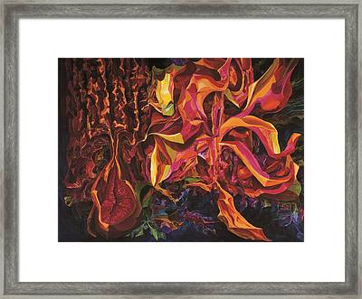 Contrasts In Red Framed Print