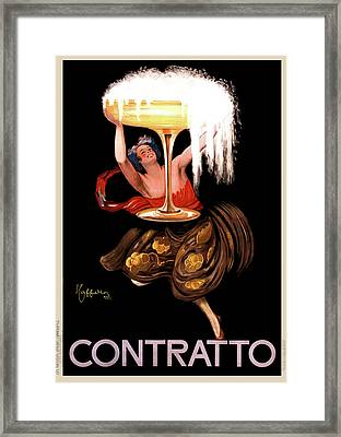 Contratto Champagne Italy 1922 Framed Print by Daniel Hagerman
