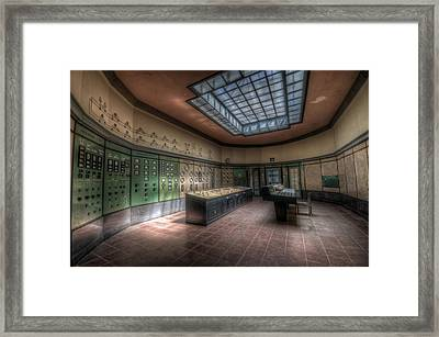 Control Room Framed Print by Nathan Wright