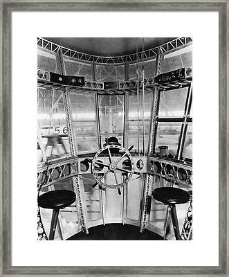 Control Room Of The Akron Framed Print