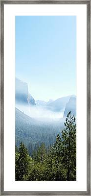 2 Of 4 Controlled Burn Of Yosemite Section Framed Print