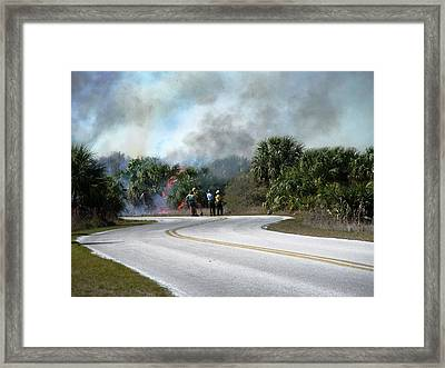 Controlled Burn Framed Print by Peter  McIntosh