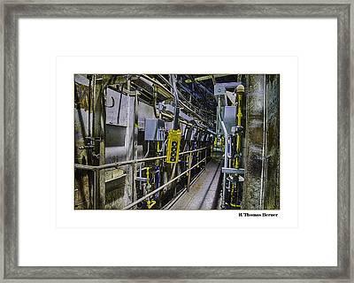 Controls Framed Print by R Thomas Berner