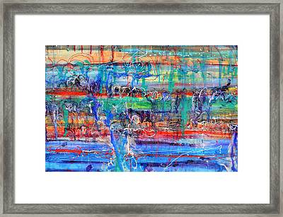 Convection Diffusion Framed Print by Regina Valluzzi
