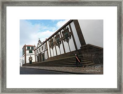 Convent In Azores Islands Framed Print by Gaspar Avila
