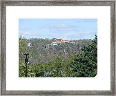 Convent On The Cliffs Framed Print by Hasani Blue