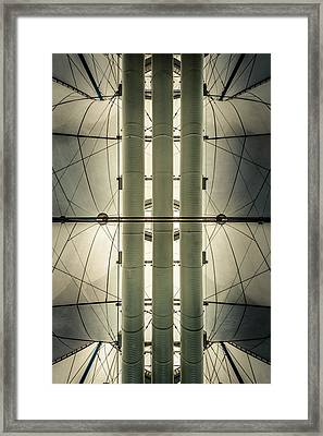 Framed Print featuring the photograph Convention Center Ceiling by Alexander Kunz