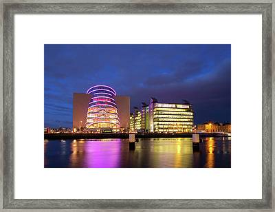 Convention Centre Dublin And Pwc Building In Dublin, Ireland Framed Print