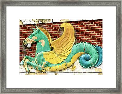 Convention Hall Seahorse Framed Print