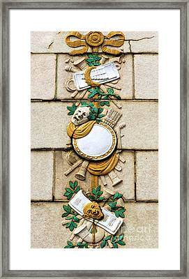 Convention Hall Tragedy And Comedy Facade Framed Print