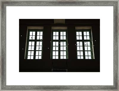 Convention Hall Windows Framed Print