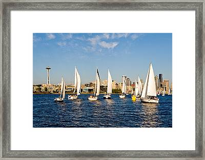 Converge On Seattle Framed Print by Tom Dowd