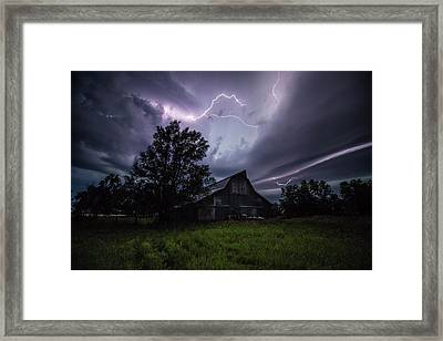 Framed Print featuring the photograph Convergence  by Aaron J Groen