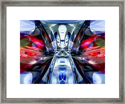Convergence Abstract Framed Print by Alexander Butler