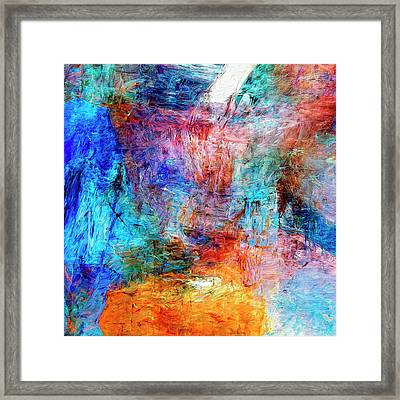 Framed Print featuring the painting Convergence by Dominic Piperata