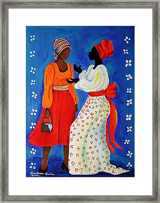 Framed Print featuring the painting Conversation by Diane Britton Dunham