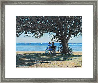 Conversation In The Park Framed Print