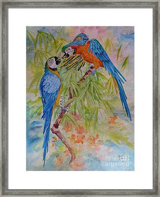 Conversation With Jackie Framed Print
