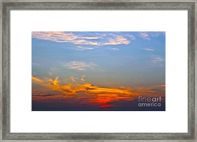 Conversations In The Sky Framed Print by Caroline Benson