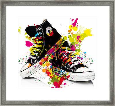 Converse All Stars Framed Print