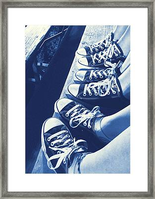 Converse Blues Framed Print by JAMART Photography