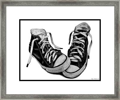 Converse Framed Print by Kalie Hoodhood