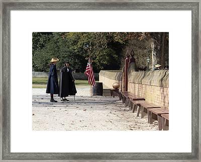 Conversing At The Capitol Framed Print