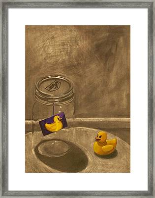 Conversing Ducks Framed Print