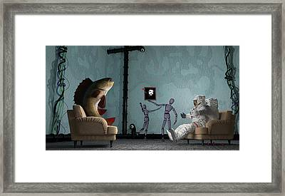 Conversing With Demons At 2 Am Framed Print