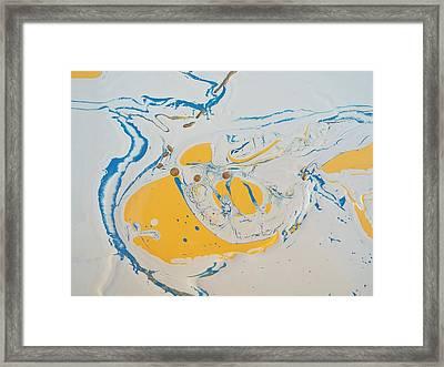 Convertible Flooded In Vegas Framed Print by Gyula Julian Lovas