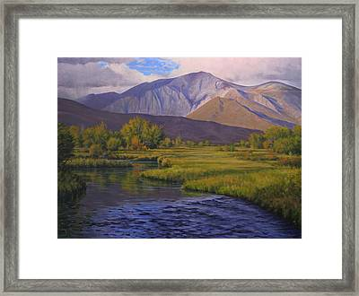 Convict Creek-eastern Sierras Framed Print by Joe Mancuso
