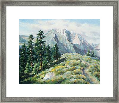 Convict Lake Guardians Framed Print by Don Trout