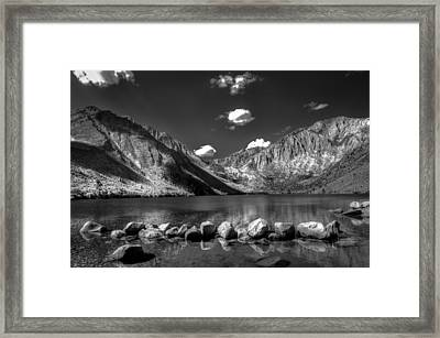 Convict Lake Near Mammoth Lakes California Framed Print