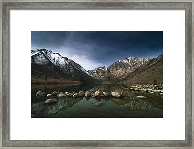 Convict Lake Framed Print by Ralph Vazquez